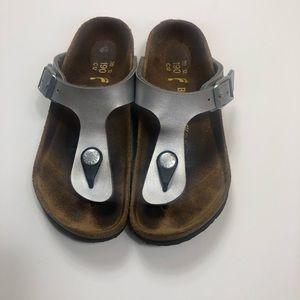 Birkenstock Thong Gizeh Kids Sandals Silver 30
